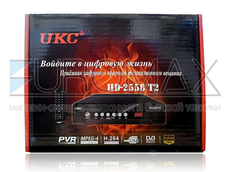 Цифровой эфирный приемник DVB-T2  UKC металлический с поддержкой WIFI адаптера T2-2558