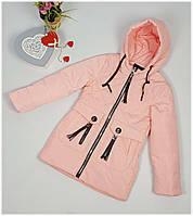 Куртка для девочки  1931 весна-осень, размеры 134-158, персик, фото 1