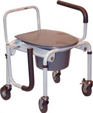 Стул-туалет на колесах с откидными подлокотниками 2107 DW