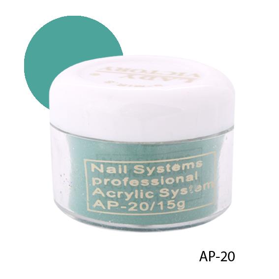 Матовая акриловая пудра  AP-(20-35) Темно-зеленая