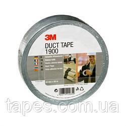 3М 1900 Duct Tape. Односторонний сантехнический скотч на тканевой основе, ширина 50 мм, длина 50 м, цвет