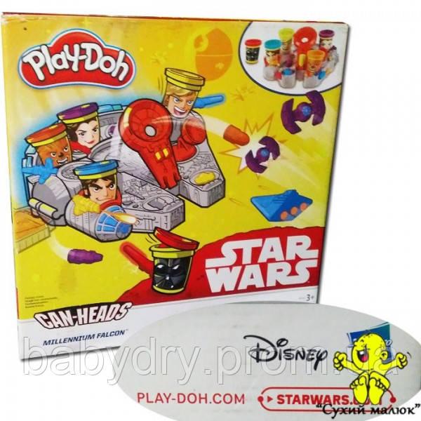 Набір пластиліну Play-Doh Зоряні Війни Millennium Falcon, 280грам Hasbro  - CM00089