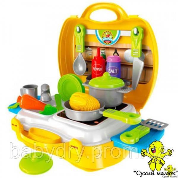 Кухня з посудом в валізі, 26 предметів  - CM01483