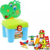 Конструктор-стілець Дракончик зелений 3166A, 46 деталей  - CM01839