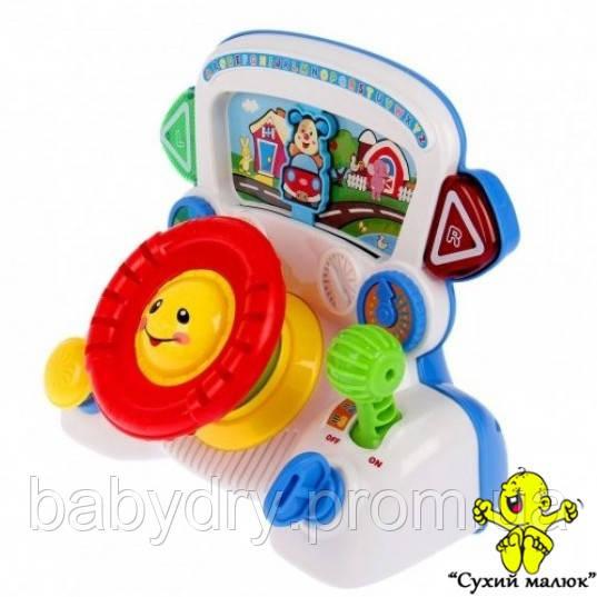 Дитячий автотренажер Steering Wheel, музичний, англійська мова  - CM01567