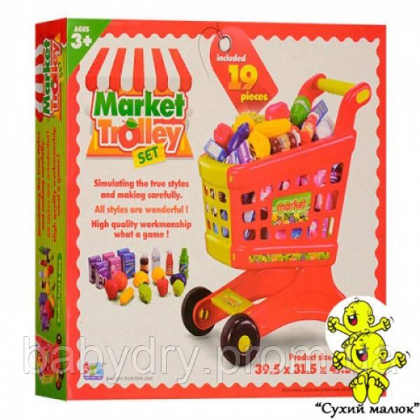 Візок Супермаркет з продуктами, 19 товарів, 49,5-43-9 см, магазин  - CM01569