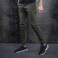 Мужские Джоггеры beZet Casual (khaki), мужские весенние штаны джогеры, легкие брюки темно-зеленые