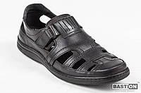 Мужские кожаные летние туфли Bastion 030 ч.