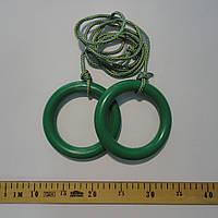 Кольца детские, подвесные ПЛАСТИКОВЫЕ зеленые