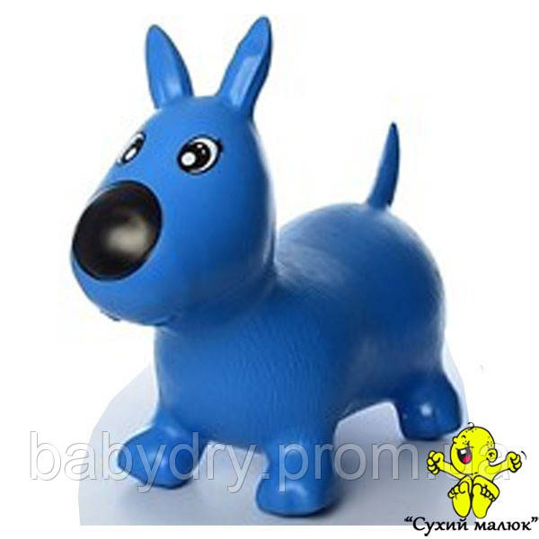 Стрибунець Собачка резиновий, синій 1592  - CM01809
