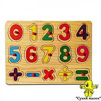 Деревяна логічна гра Цифри в асортименті 0646  - CM01460