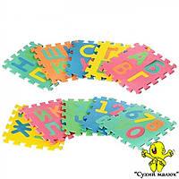 Дитячий килимок пазл Мозаїка Алфавіт 2736, 1 рік+  - CM01696