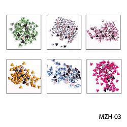 Кольорові стрази «трикутники». MZH-03