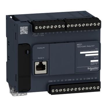 Контролер Modicon M221 9DI/7RO+2AI (0-10В) RS485 TM221C16R