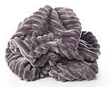 Два лоскута плюша в полоску Stripes пепельно-серого цвета 40*160, 20*80 см, фото 3