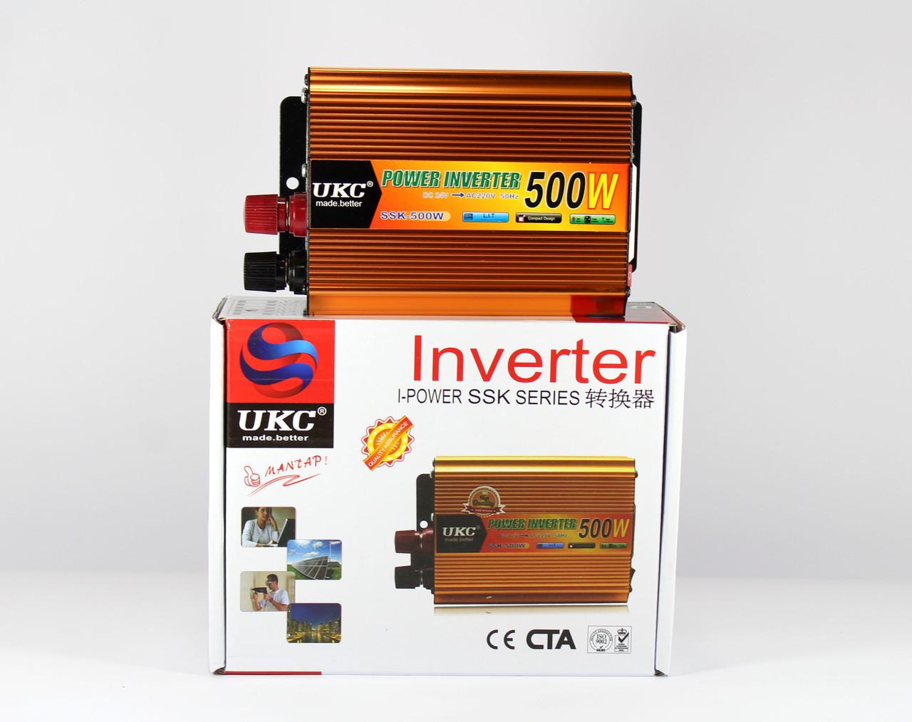 Преобразователь автомобильный напряжения инвертор AC/DC SSK 500W 24V