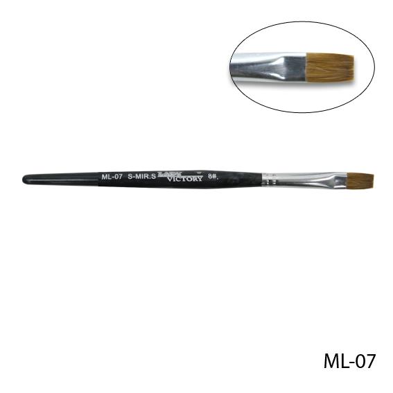 Натуральная кисточка для геля №8. ML-07
