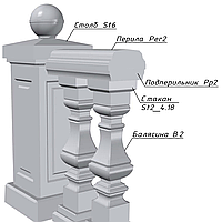 Подперильник балюстрады Pp2, фото 1