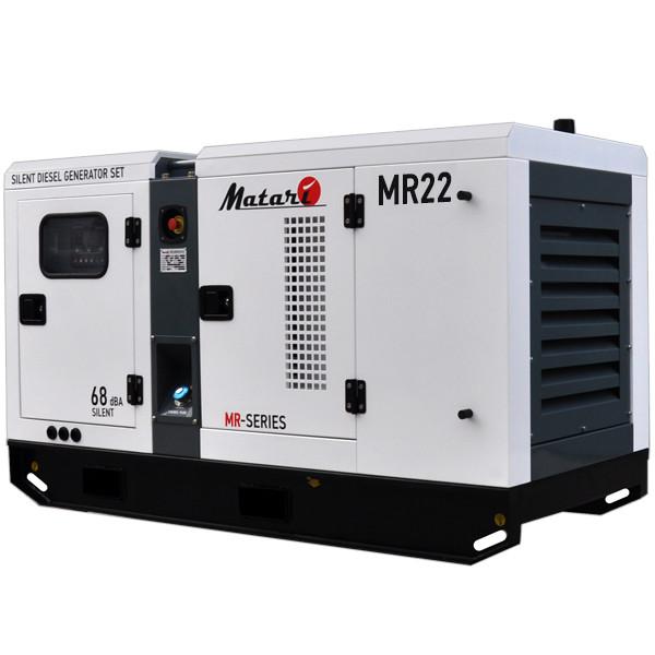 Трьохфазний дизельний генератор MATARI MR22 (22 кВт) Підігрів + Автозапуск