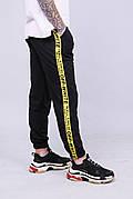 Мужские спортивные штаны с лампасами в стиле OFF-WHITE
