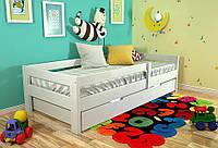Детская деревянная кровать из массива дерева -Альф 80*190