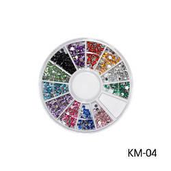 Круглі декоративні стрази. KM-04
