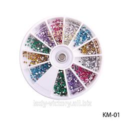 Круглі декоративні стрази. KM-01
