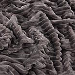 Лоскут плюша в полоску Stripes пепельно-серого цвета 73*78 см, фото 2