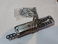 Механизм складывания колясок серый (хром), с заклепками