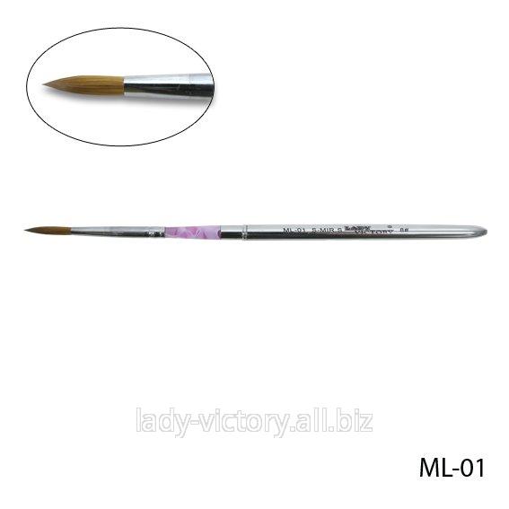 Натуральная кисть для акрила № 8. ML-01