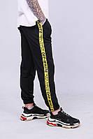 Мужские утепленные спортивные штаны с лампасами в стиле OFF-WHITE