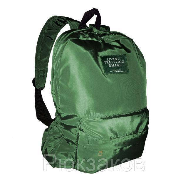 e2b4f46be3d4 Городской рюкзак текстильный женский. Модные рюкзаки черный и зеленый  Зеленый