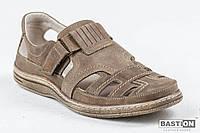 Мужские кожаные летние туфли Bastion 030 ол.нубук., фото 1