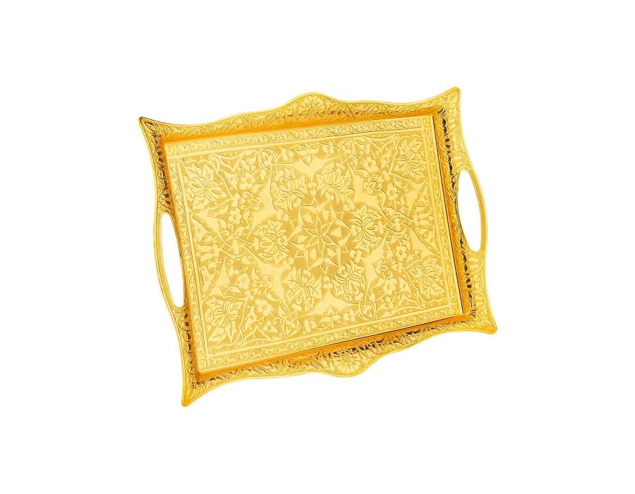Поднос Sena прямоугольный золотистый 27х35 см