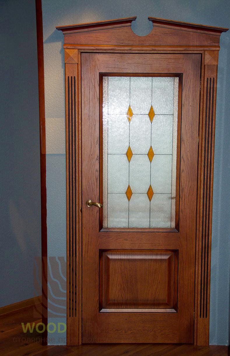 Двери ясень, тонировка с черной патиной. Серия 90