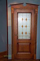 Двери ясень, тонировка с черной патиной. Серия 90 , фото 1