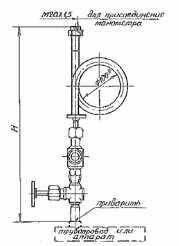 Отборное устройство давления прямое 16-120П (160-120П)
