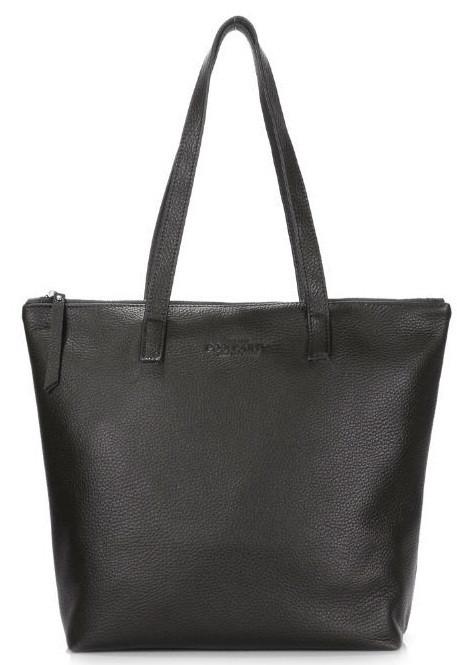 1d4da220364e Кожаная сумка POOLPARTY secret-black женская черная — только ...