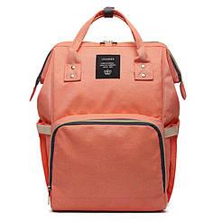 Многофункциональная сумка-рюкзак для мам LeQueen Оранжевый