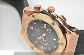 Мужские часы HUBLOT Big Bang Gold Black Ремешок с запахом, фото 2