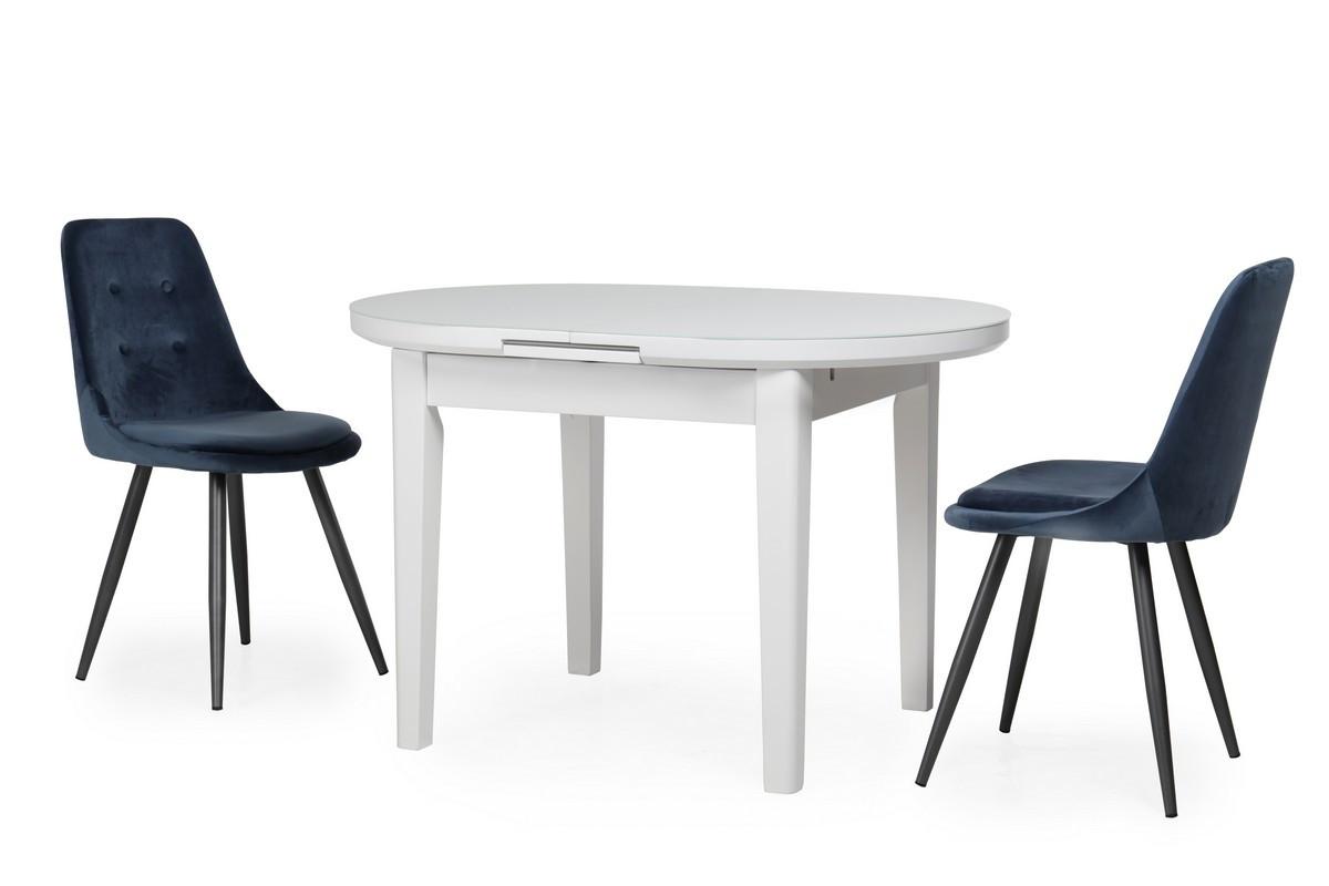Раздвижной стол TM-75 Vetro Mebel 120/145, матовый снежно-белый (бесплатная доставка)