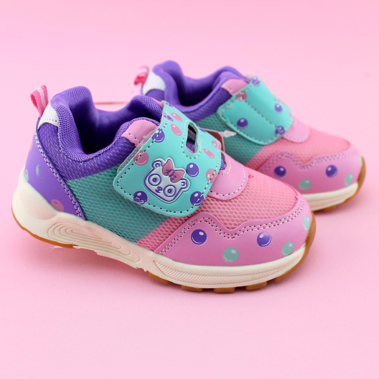 Детские кроссовки девочке розовые тм Том.м размер 21,22