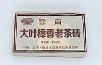 Шу пуэр с аромотом Чжанму. Крупный лист Mujsk старый чайный кирпич 250г