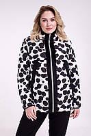 Женская демисезонная двусторонняя куртка Большие размеры  48-68
