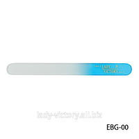 Двухсторонняя стеклянная пилка для натуральных ногтей. EBG-00