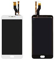 Дисплей для Meizu M6 Note + touchscreen, белый Высокое качество