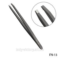Прямий чорний пінцет для брів. FN-13
