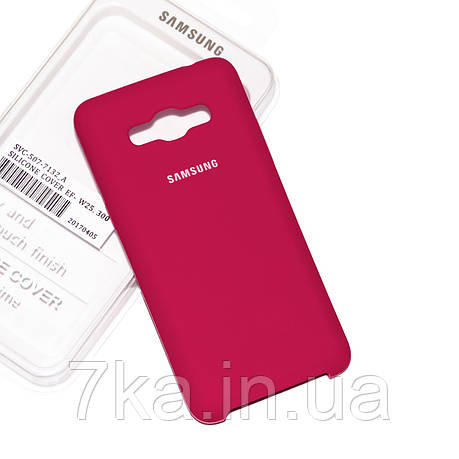 Силиконовый чехол на Samsung J2 Prime Soft-touch Bordo, фото 2