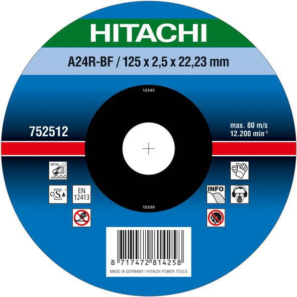 Диск отрезной по металлу 125х2,5х22,2 Hitachi / HiKOKI 752512