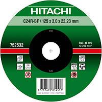 Диск отрезной для кирпича и бетона 125х3,0х22,2 Hitachi 752532